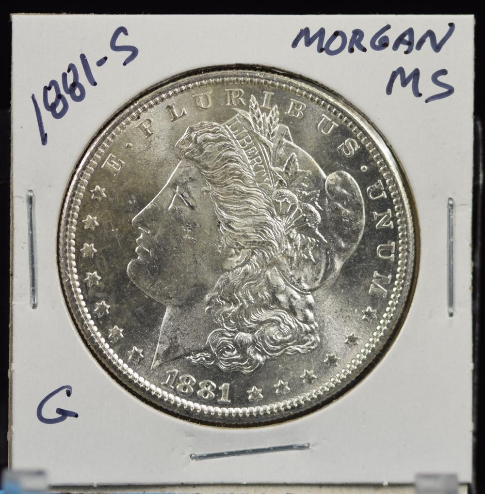 1881-S Morgan Dollar MS G