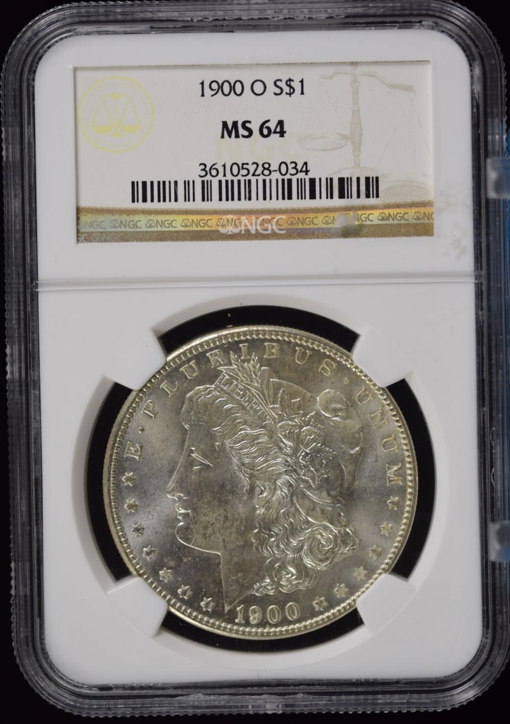 1900-O Morgan Dollar NGC MS-64