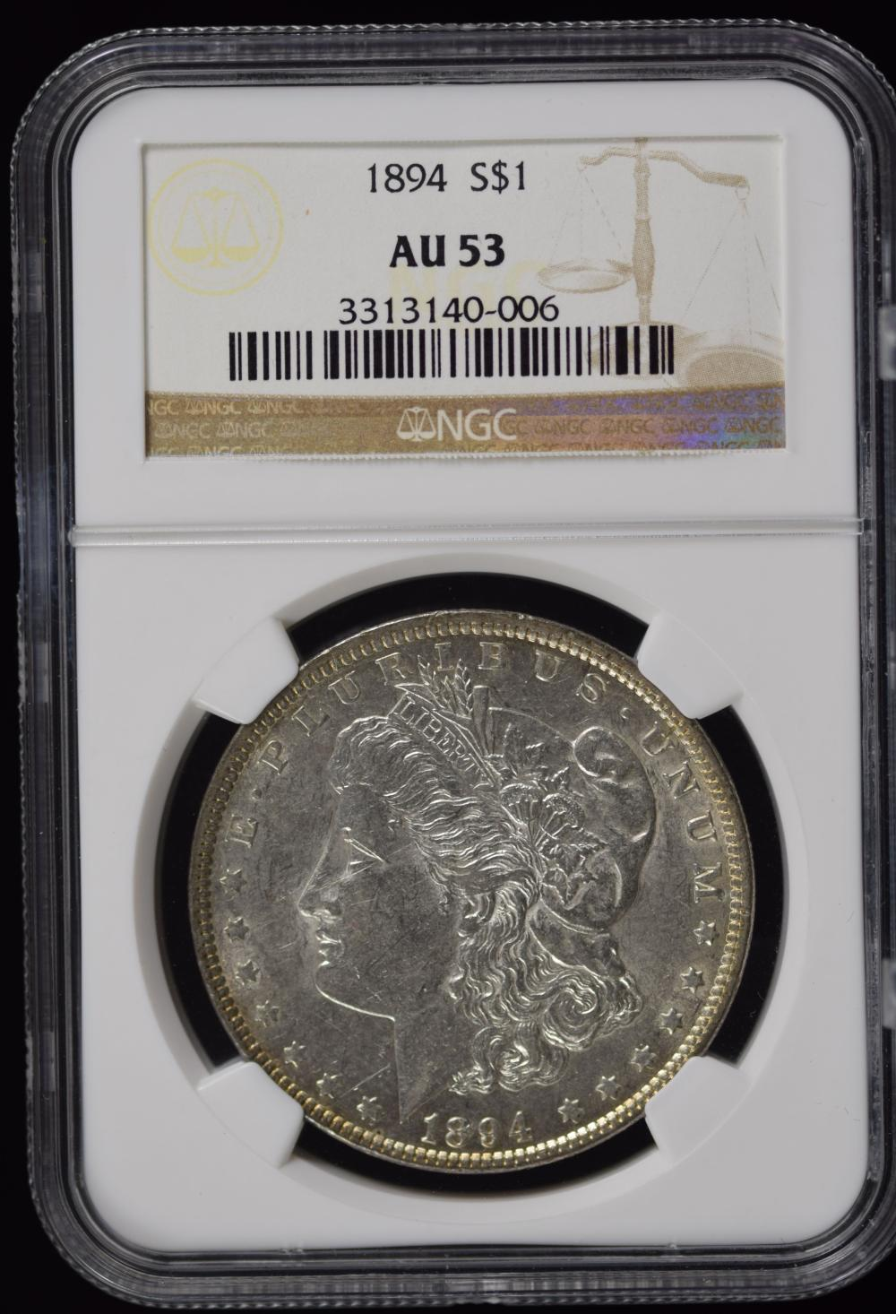 1894 Morgan Dollar NGC AU-53