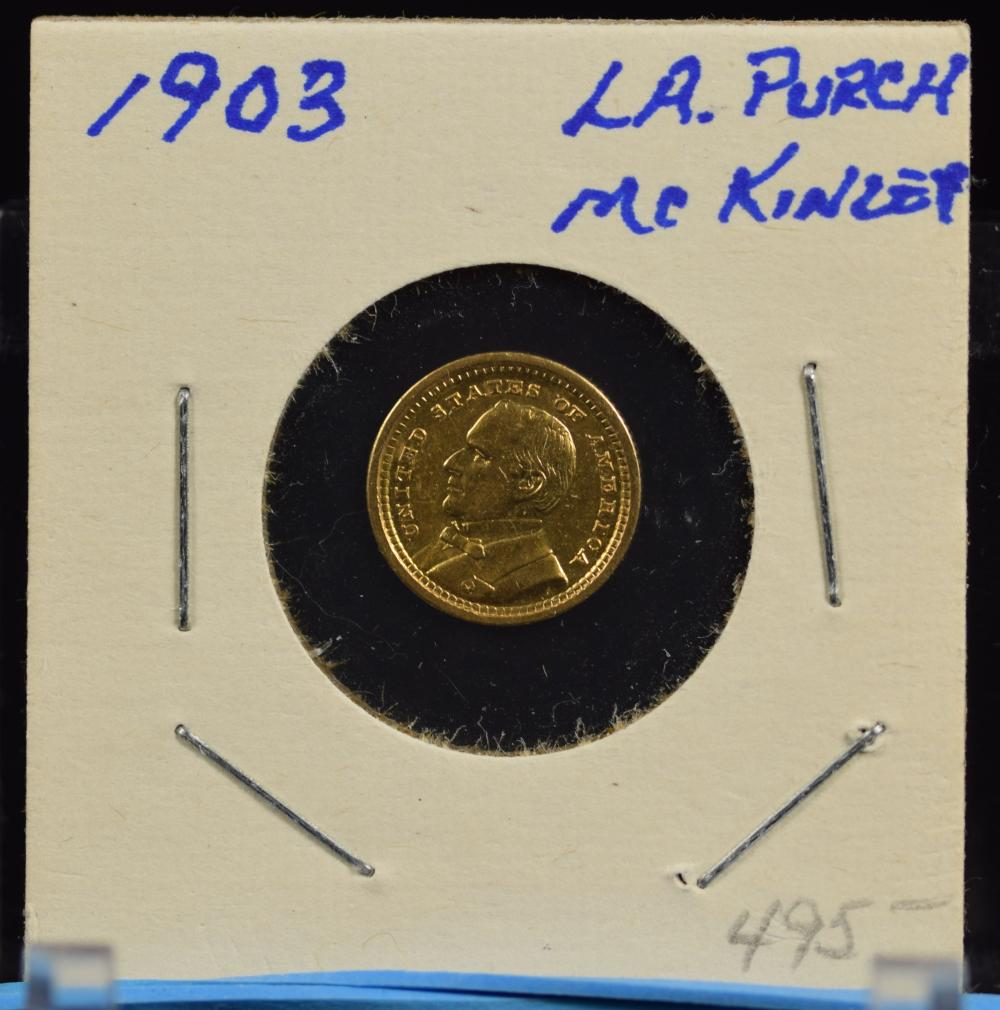 1903 $1 Gold Dollar Louisiana McKinley Commen 17K mintage