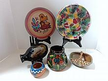 Six European Art Pottery Pieces