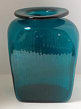 Teal Green Blenko Vase