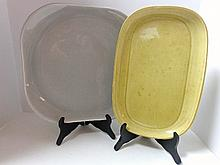 Pair Russell Wright Platters