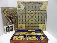 Three Guardsmen Game Board with Polytechnic Set