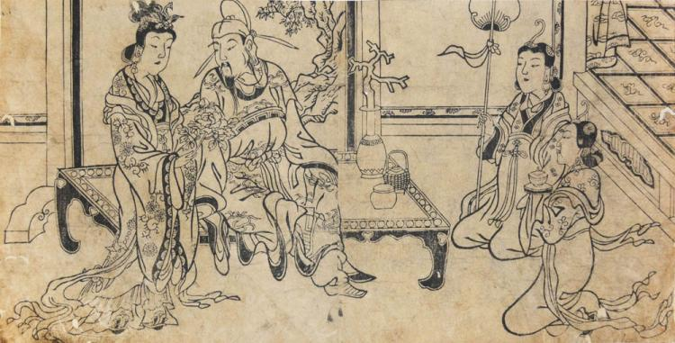 The Emperor Xuanzong and Yang Guifei