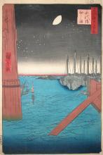 Tsukudajima from Eitai Bridge