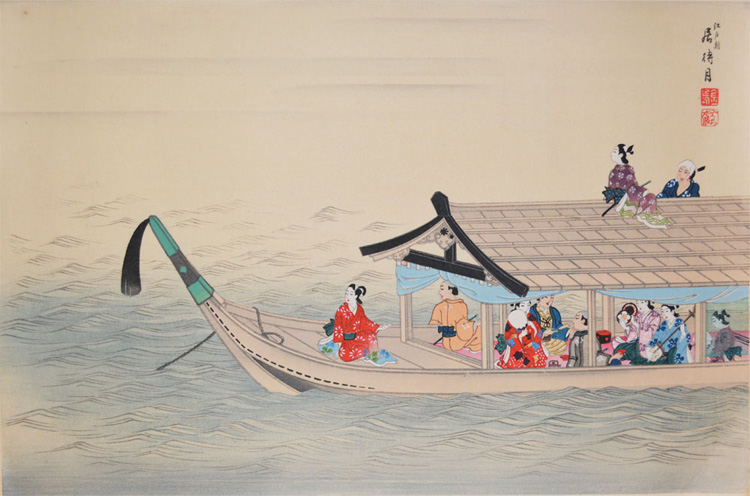 Moon Viewing in Edo Period