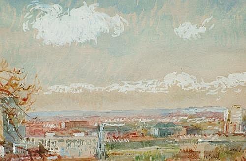 Jacqueline L Rizvi b.1944- 'Prospect From Hendon,