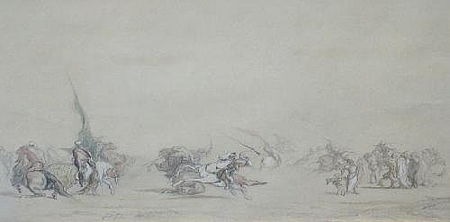 "Paul Hippolyte Delaroche, French 1797-1856- ""Arab"