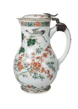 A Chinese porcelain jug and cover