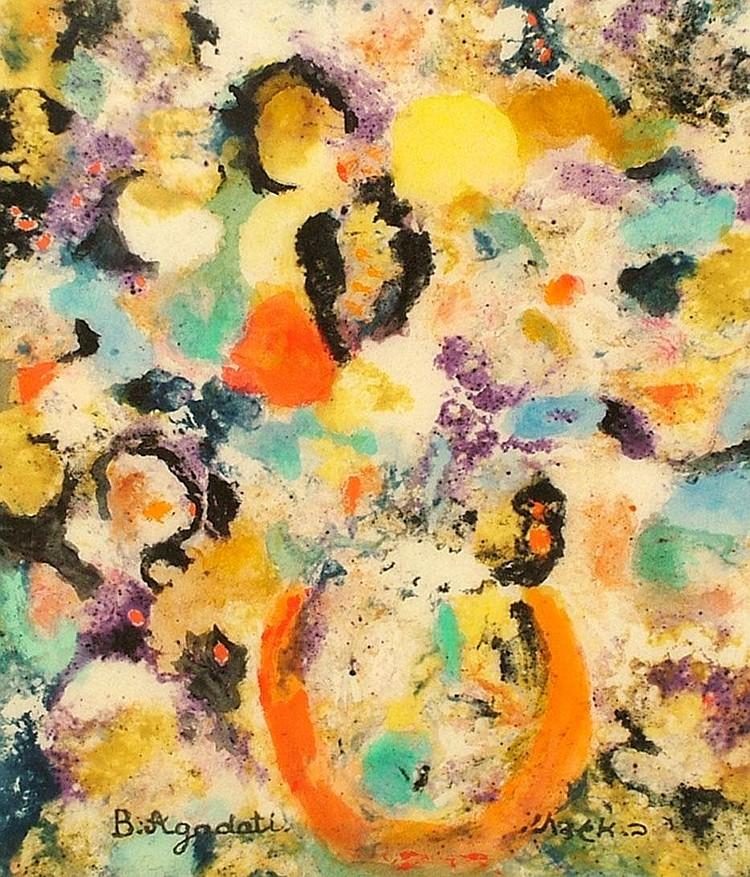Baruch Agadati, Israeli 1895-1976- Floral still