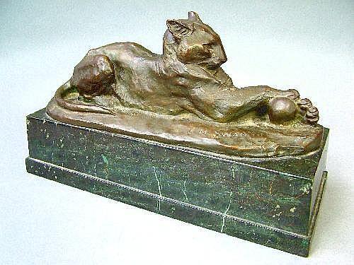 John Macallan Swan (1847-1910) a bronze figure of