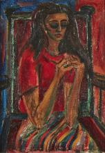 Sven Paul Berlin, British 1911-1999 - Girl with a Puzzle;