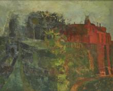 Leonard Rosoman OBE RA, British 1913-2012 - A Bend in the Shrubbery, Gargilesse, 1955;