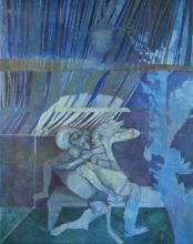 Leonard Rosoman OBE RA, British 1913-2012 - Blue figures;