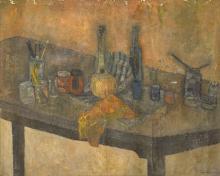 Leonard Rosoman OBE RA, British 1913-2012 - Artist's pot, circa 1954;