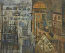 Leonard Rosoman OBE RA, British 1913-2012 - The Silver Galleries at the Victoria and Albert Museum, c.1958-59;