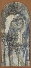Leonard Rosoman OBE RA, British 1913-2012 - Sleeping figures beneath a forest archway;