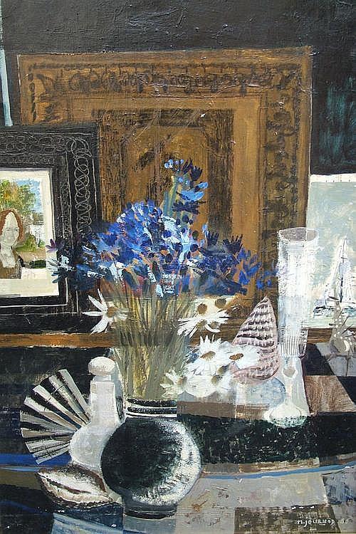 Monique Journod, French b.1930- Floral still life