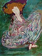 Linda Le Kinff b.1949- Seated woman; lithograph, Linda LeKinf, Click for value