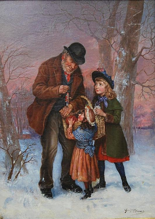 G W Brown 19th century, fl.1877- Christmas cheer;