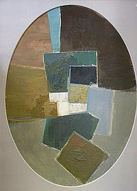 Eric Dobson 1923-1992- Untitled abstract; oil and