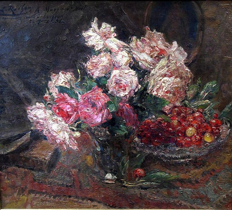 Ernest Rocher, Belgian 1872-1938- Still-life of