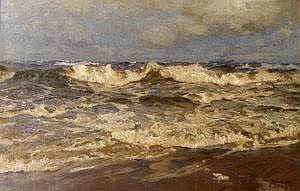 Carl Becker, German 1862-1926- Shipping on the