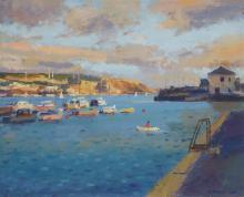 Ronald Morgan, British b.1936- Summer Evening, Plymouth; oil on board, 24.2