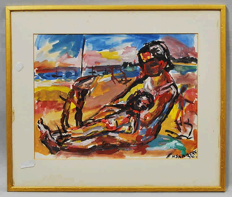 Henry Sanders, German 1918-1982- ''On the Beach Br