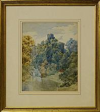 Frank Bramley RA, British 1875-1915- Warwick Castle; watercolour, signed with monogram and dated 90,