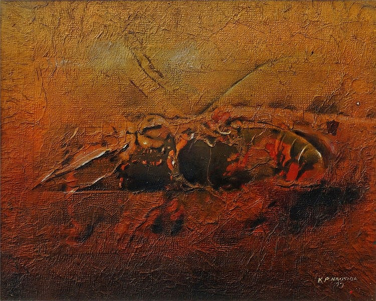 Kagiso Patrick Mautloa, South African b.1952- Untitled; mixed media, signed and dated 97, 36.9x45.9c