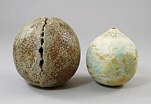 Alan Wallwork, A globular stoneware sculpture,