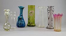 A Victorian Webb glass vase, 19th century, with an
