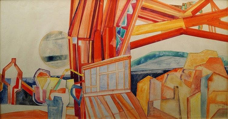Ed Smith, British 1923-1988- ''New York Bridge'';