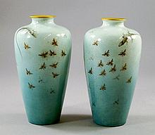 A pair of Satsuma vases, late 19th/early 20th