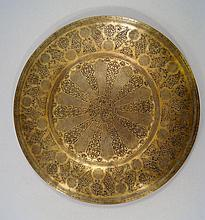 A large Islamic bronze bowl, Siran, 19th century,