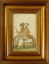 A Indian miniature painting of Geyiklu Baba,