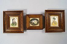 A pair of Indian miniature portraits, 19th