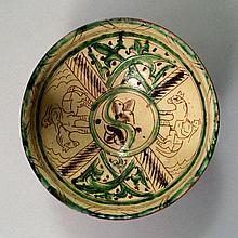 A Bamiyan sgraffito pottery dish, Afghanistan,