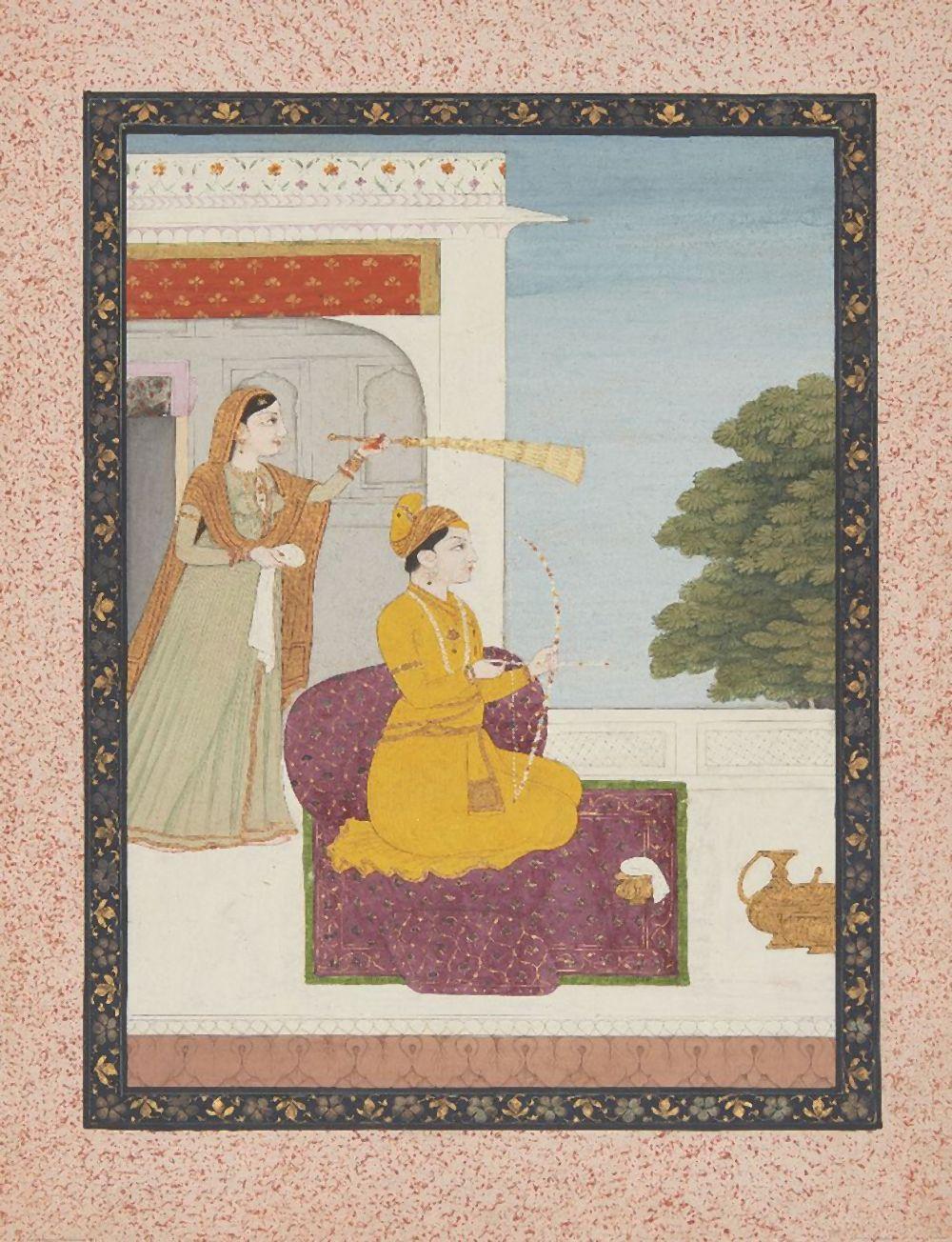 An illustration to a Ragamala series: Kusuma Putra of Dipak Raga, attributa