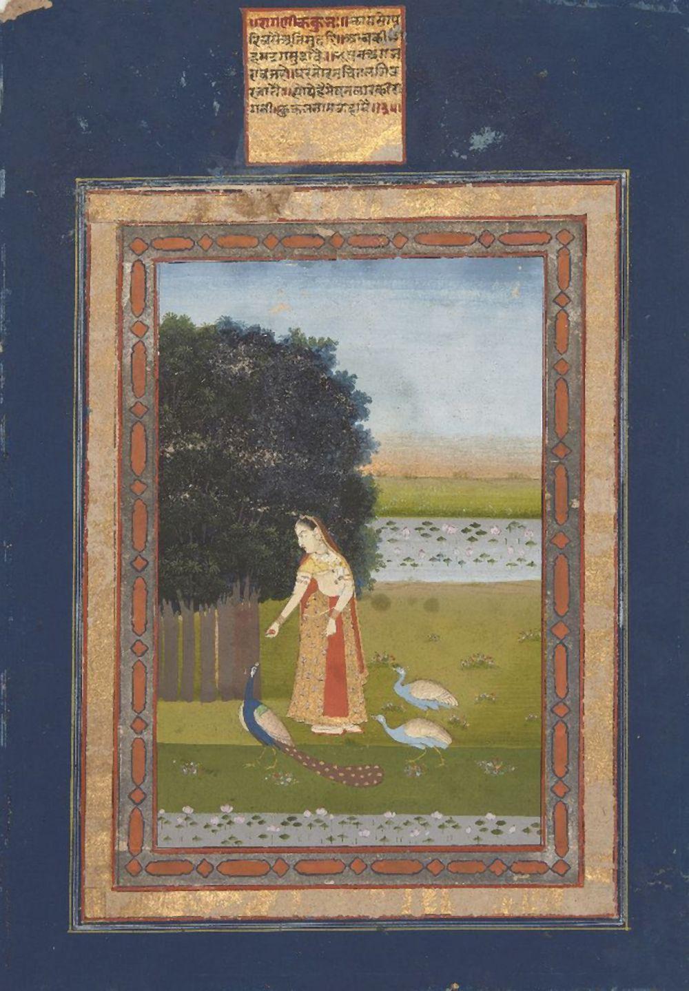 An illustration from a Ragamala Series: Kakubha Ragini, Jaipur, Rajasthan,