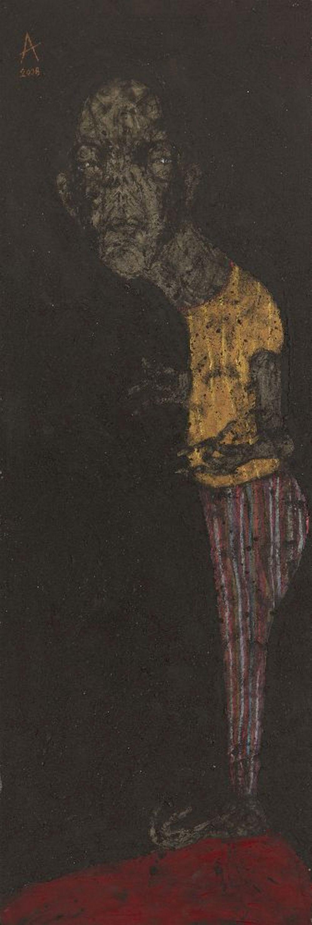 Sabhan Adam (Syrian, b. 1972), Untitled, 2007, mixed media on canvas, signe