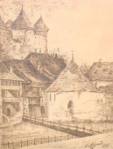 Joseph Megard, Swiss 1850-1918-