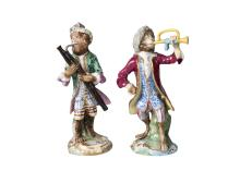 A Russian monkey band figure of a bassoon player