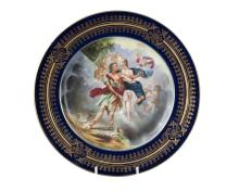 A Vienna style porcelain plate
