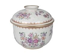 A Samson famille rose jar and cover