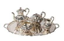 A Victorian three piece silver tea service