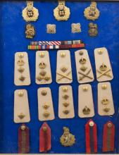 A set of WWII British Army rank insignia