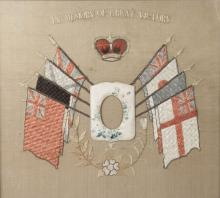 A group of Great War memorial items